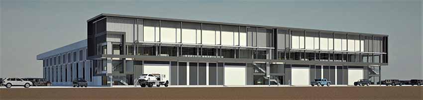 แบบ โครงสร้างเหล็ก - การออกแบบ โรงงาน 3D Perspective