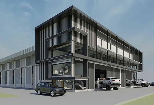 แบบ โครงสร้างเหล็ก - การออกแบบ โรงงาน 3D Perspective 2