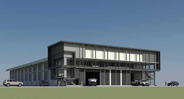 แบบ โครงสร้างเหล็ก - การออกแบบ โรงงาน 3D Perspective 4