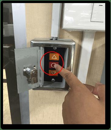 รีโมตคอนโทรลประตูม้วนไฟฟ้าหยุด