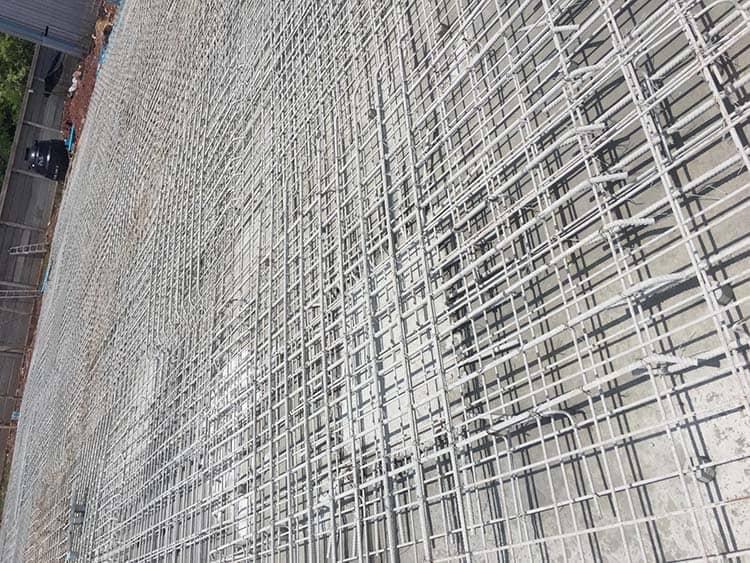 การวาง ไวเมช (wire mesh)