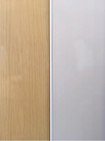 แผ่นฉากกั้นห้องแบบทึบสีขาวลายไม้