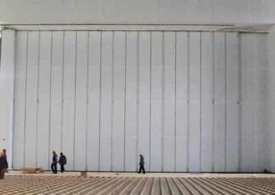 ประตูฮังก้า ดอร์ สไลด์ซ้อน สีขาว
