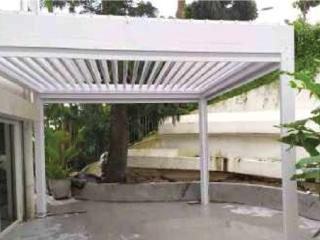 เพอร์โกล่า-หลังคา-ระบบไฟฟ้า-ในสวน